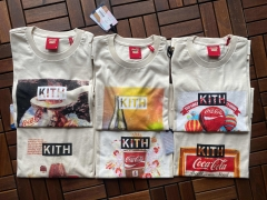 KITH X COCA-COLA T SHIRT  kiss联名快乐水胸前大印花六款式T恤